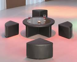 Living Room Table by Coffee Table Round Glass Coffee Table With Stools Underneath
