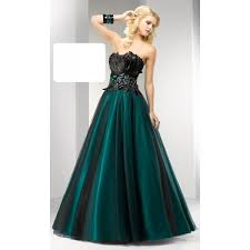 strapless a line unique lime green black feather prom dress
