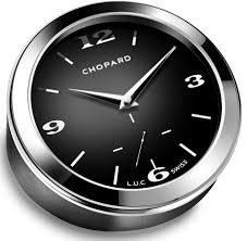 Quartz Table L Chopard L U C Quartz Black Leather Table Clock Chopard Brands