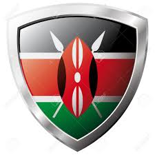Flag Of Kenya Kenya Flag On Metal Shiny Shield Vector Illustration Collection