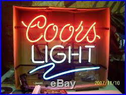 vintage coors light neon sign new old stock vintage coors light neon lighted sign with swish nos
