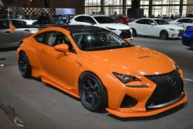 lexus rc advertisement lexus rc f with widebody gt pandem aero kit at chicago auto show