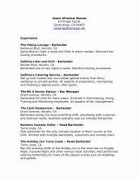 bartender resume format 13 beautiful fill resume sle resume sle template and