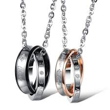 his hers gifts his and anniversary gift stainless steel jewelry