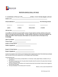 colorado bill of sale form free templates in pdf word excel to