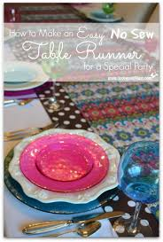 Table Runners Cover It Up How To Make An Easy No Sew Table Runner Toot Sweet 4 Two