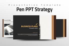 pen ppt strategy presentation templates creative market