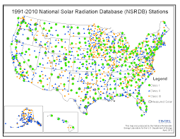 Sunnyvale Zip Code Map by National Solar Radiation Data Base