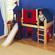 Childrens Bunk Bed With Slide Bedroom Blue Children Bunk With Slide Warmojo House