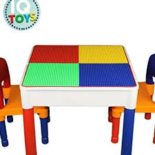duplo table with chairs kids table chairs 3 in 1 duplo compatible plus sto by iq toys