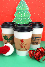 christmas personalized insulated coffee cup sleeves for christmas