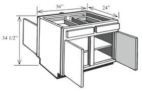Base Cabinets For Kitchen Island Bi42 Kitchen Island Base Cabinet 42 W X 34 1 2 H X 24 D Custom