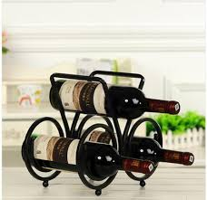 metal wine racks personalized ornaments 3 bottle wine rack