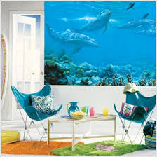 theme wall theme wall murals realistic the sea dolphins wall