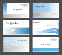 Maps For Business Cards Six Corporate Business Card Templates White Blue And Grey With