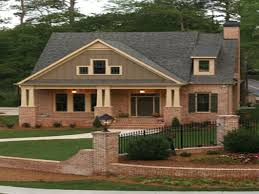 Craftsman Cabin Home Design Brick Craftsman Style Ranch Homes Wainscoting Hall