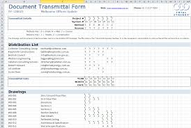 transmittal ms excel template