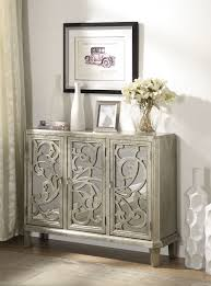 Accent Cabinets by Mirrored Accent Cabinet Antique Silver Entrance Statement