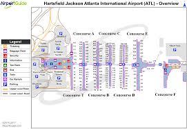 Seattle Airport Map Terminal by Atlanta Hartsfield Jackson Atlanta International Atl Airport
