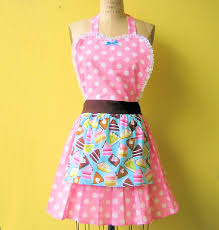 Baking Apron For Womens Loverdoversclothing Retro Aprons Bakery Themed Womens Aprons In
