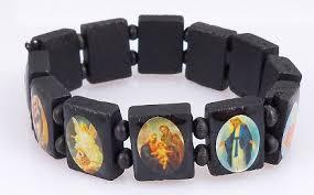 saints bracelet wooden bracelets the witness