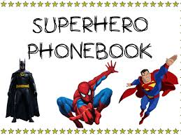 superhero phone book role play area resource by sophie5394
