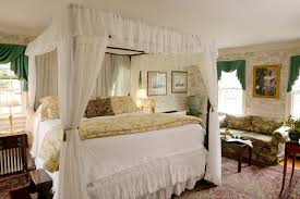 Romantic Bedroom Sets by Bedroom Opulent Queen White Canopy Curtains Bed Design With Wood