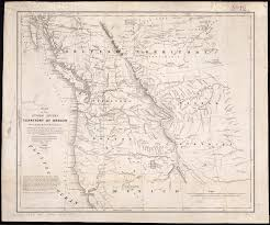 map of oregon united states map of the united states territory of oregon west of the rocky