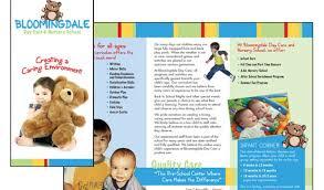 school brochure design templates child care brochure template free fieldstation co
