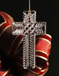 marquis by waterford cross ornament serenity