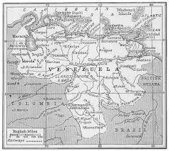 Map Of Venezuela Venezuela Map 1920 Philatelic Database