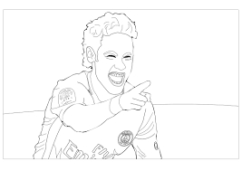 neymar jr 2 olympic and sport coloring pages for adults