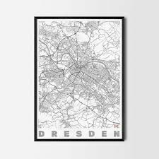 dresden gift map art prints and posters home decor gifts