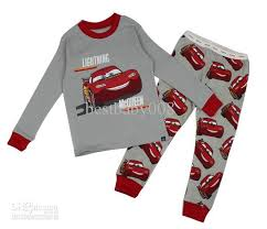 2018 baby boy homewear mcqueen pajamas set sleeve top