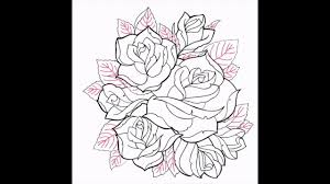 creating the roses coloring page timelapse drawing youtube