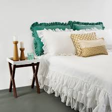 white ruched duvet cover hadley covers west elm pintuck make your