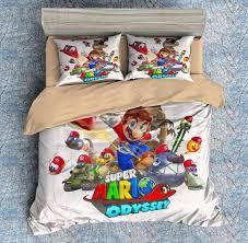 Mario Bedding Set 3d Customize Mario Odyssey Bedding Set Duvet Cover Set