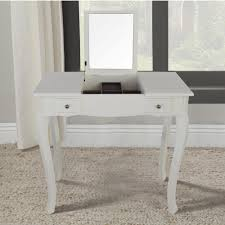 Home Depot Vanity Table Lux Home Emilie White Vanity Table With Mirror Dwt 418wh The
