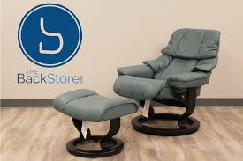 stressless tampa small reno paloma aquagreen leather recliner