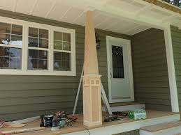 tapered porch columns how to make craftsman style 15 pvc curb