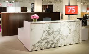 Reception Station Desk Knoll Reff Reception Station With Marble Inset Panel And