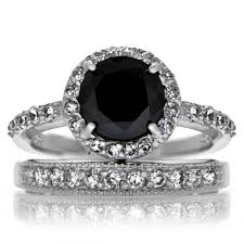 Black Diamond Wedding Ring Sets by Free Diamond Rings Black Diamond Wedding Ring Sets For Women
