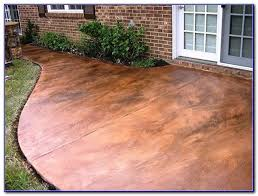 How To Paint Outdoor Concrete Patio Staining Concrete Patio To Look Like Stone Patios Home Design