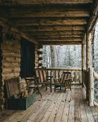 a cabin porch in it u0027s simplest form log cabin homes pinterest