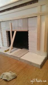 How To Build Fireplace Surround by Diy Fireplace Makeover Living Rooms Mantle And Mantels