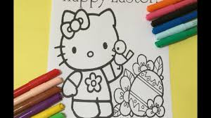 hello kitty easter coloring book lets color happy easter hello