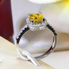 halo wedding rings images Cushion 2 carat imitation diamonds engagement ring princess cut jpg