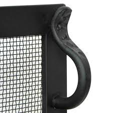 forged iron fireplace screen matte black 44 u0027 u0027 x 33 u0027 u0027 northline