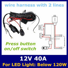 online cheap auto wiring harness with 2 lines kit led hid light