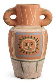 Decoration Vase Pablo Picasso Ceramic Vase With Pastel Decoration Vase Au Décor